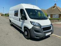 Peugeot Boxer Campervan by Young 2 Berth 2 Seatbelts Towbar Reverse Camera