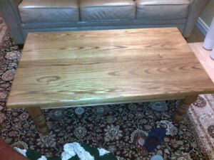 Rustic Custom Made One of a Kind Solid Oak Coffee/End Tables.