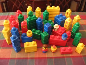 114 Pieces of Duplo Lego Primo Stack N'Learn Building Blocks