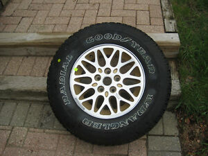 New Condition Aluminum Rim and Good Year Tire