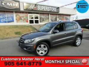 2014 Volkswagen Tiguan Comfortline  AWD LEATHER ROOF HS BT