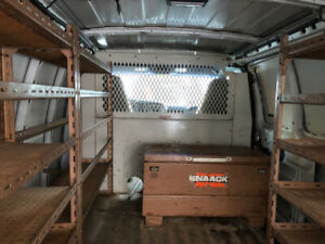 Weather Guard Bulkhead Barricade for Work Van - $300