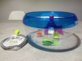 Robo fish with bowl, net and fish set