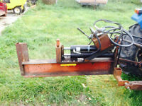 3pth dual cylinder log splitter for trade