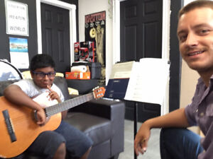 50% off Guitar Lessons One Month Special