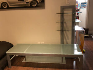 TV Unit with Glass Table