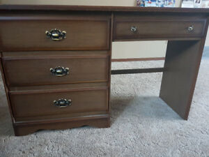 Solid wood used desk and night stand