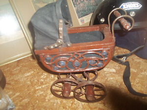 Baby Doll Carriage Buggy Ornate & a vintage stroller