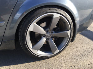 OEM Audi S5 rotor wheels with Michelin Pilot Sport Tires
