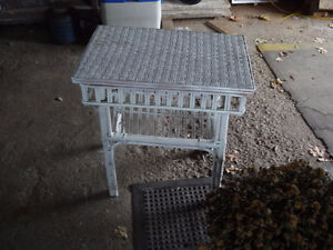 2 wicker end tables. good condition