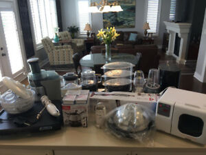 Large Lot  of Small Kitchen Appliances and wares