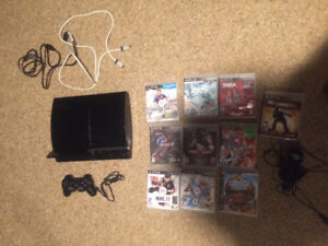 80GB PS3 with 1 controller, Mic, and 10 games