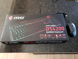 MSI gaming keyboard and mouse