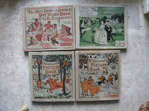 R Caldecott's Picture Books 1 to 4 Ex Library.