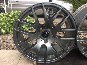 """4 mags 18"""" RSSW pour BMW- Camaro- Equinox antracyte (gris)"""