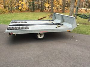 2008 Northtrail snowmobile/ATV double galvanized trailer