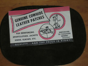 A PAIR of GENUINE COWHIDE LEATHER PATCHES