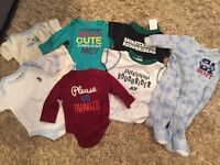 New/ EUC 0-3 month baby clothing