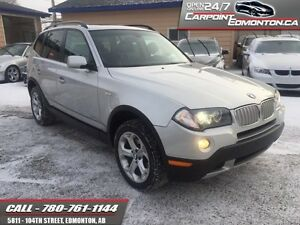 2009 BMW X3 3.0i AWD ONLY 82540 KMS ONE OWNER MINT!!!  - local -