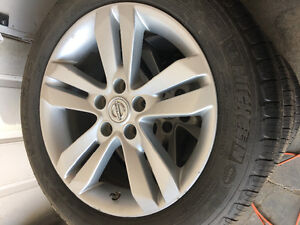 17 inch Altima rims and tires