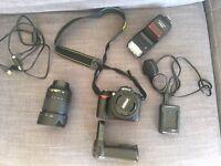 Nikon D90 18-105 ; 55-200 plus accessories!!