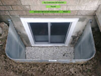 BASEMENT CUSTOM SIZE EGRESS WINDOWS INSTALLATION 647 834-7411