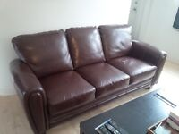 Bonded leather sofa & chair