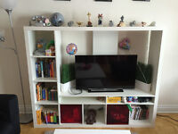 White TV Cabinet with Storage Space