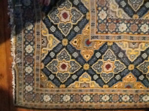 Hand knotted Persian carpet,  9 x 12, antique