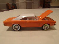 Loose Hot Wheels LE WHIPS Team Baurtwell '69 Dodge Charger orang