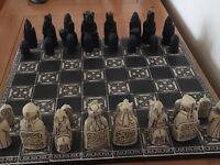 Isle of Lewis stone chess set