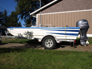 15' CHUCK CHARIOT FOR SALE WITH 50HP YAMAHA