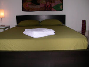 SHort term  down town Queen W.furnished bright room $ 375 week