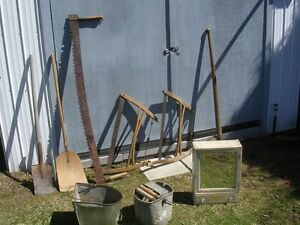 ! TRADE NICE ANTIQUE TOOLS, BARN DOORS, ETC.  FOR A TRAILER.