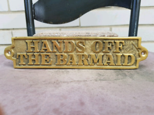 Vintage Brass Sign