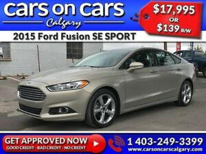 2015 Ford Fusion SE SPORT w/BlueTooth, BackUp Cam, USB Connect $