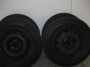 """195/65/15"""" winter tires and rims off a Corolla"""
