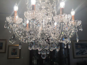 Incredible 8 arm antique Crystal chandelier