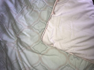Never used baby bedding - Pink & Grey