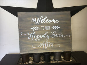 *wedding* rustic decorative sign