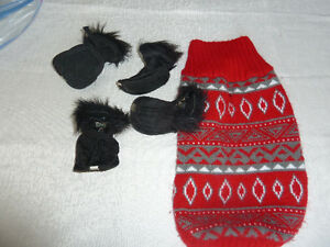sweater small and winter boots