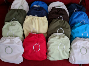 20 Couches Lavables Omaiki/Bummis TE1 - 20 Cloth Diapers AIO