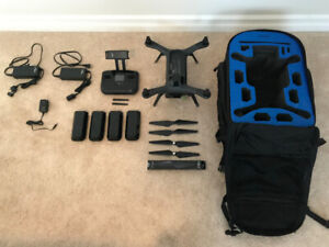 3DR Solo Drone with extra batteries and accessories