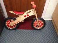 Balance bike wooden