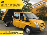 2011 Ford Transit 2.4TDCi 100 D/Cab Tipper [ NO VAT TO PAY ] Low Mileage