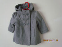 STYLISH BABY GIRLS DOUBLE-BREASTED WINTER OVERCOAT