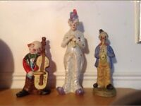 Fine Porcelain Clowns Ornaments