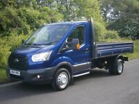 2014(64) FORD TRANSIT T350 155 MWB TIPPER ONE STOP, MET BLUE, A/C, FINANCE?