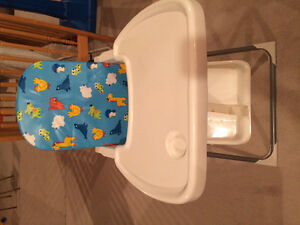 High Chair/ Smaller and compacts easily