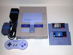 Super Nintendo SNES Console avec Super Mario All-Stars & World